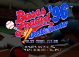 Bases Loaded '96: Double Header SEGA Saturn Title screen.