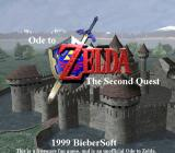 Ode to Zelda: The Second Quest Windows Title screen