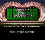 Wheel of Fortune Genesis Main menu