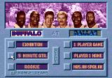 Unnecessary Roughness '95 Genesis Main menu