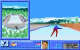 The Games: Winter Challenge DOS Speed Skating