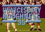 Unnecessary Roughness '95 Genesis Title screen