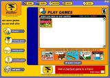 ZapSpot provides a browser that is used to access all the downloaded games in the player's library. While playing the panel to the left of the game window will show adverts too