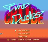 Two Crude Dudes Genesis Title screen