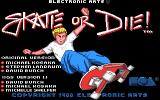 Skate or Die Apple IIgs Title screen.