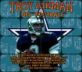 Troy Aikman NFL Football Genesis Title screen