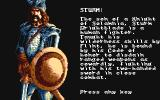 Heroes of the Lance Amiga Introduction to the party. This is Sturm.