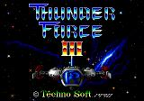 Thunder Force III Genesis Title screen