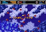 Thunder Force III Genesis The level scrolls even after it is game over