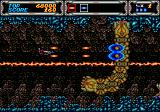 Thunder Force III Genesis Fighting a big snake
