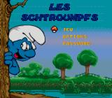 The Smurfs Genesis Title screen - French