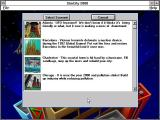 SimCity 2000: CD Collection Windows 3.x The scenario selection screen, there are eighteen of these in the Special edition