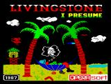 Livingstone, I Presume? ZX Spectrum Presentation (English version, 1987)