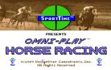 Omni-Play Horse Racing Amiga Loading screen.