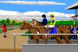 Omni-Play Horse Racing Amiga Horses get ready.