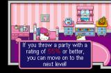 Hello Kitty: Happy Party Pals Game Boy Advance Party Time mode. Hostess in Training - Help Kitty plan a party for two in the Playroom!