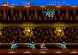 Gunstar Heroes Genesis enemies can appear top and bottom, so keep an eye out for them