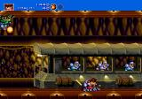 Gunstar Heroes Genesis these lazy crims are using the train!