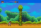 Gunstar Heroes Genesis the first boss is ... a plant?