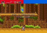 Gunstar Heroes Genesis reach the bottom of the slope and be ready for another boss encounter