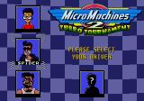 Micro Machines 2: Turbo Tournament Genesis Choose your character