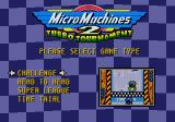 Micro Machines 2: Turbo Tournament Genesis The four single player game modes