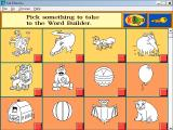 Kid Phonics 1 Windows 3.x Word Builder selection screen.