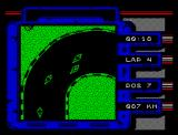 Grand Prix Master ZX Spectrum Fighting for the first position
