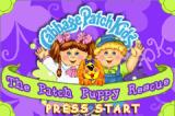 Cabbage Patch Kids: The Patch Puppy Rescue Game Boy Advance Title screen