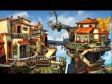 Chaos on Deponia Windows Bellevue, the most elite part of the Floating Black Market.