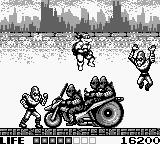 Teenage Mutant Ninja Turtles:  Fall of the Foot Clan Game Boy Jumping over the motorcycle