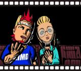 Viewtiful Joe GameCube Starting a new game: Joe and his girlfriend in the cinema