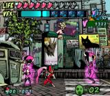 Viewtiful Joe GameCube Surrounded by strange enemies in pink...