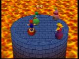 Mario Party 2 Nintendo 64 Mini game: try to knock each other off the platform!