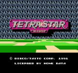 Tetrastar: The Fighter  NES Title screen