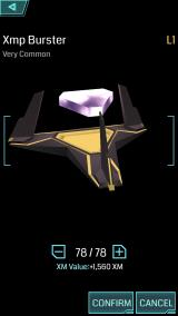 Ingress iPhone Players can recycle useless low level items for XM.