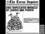 Eric the Unready DOS The newspaper: your most faithful companion throughout the game!