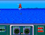 Poseidon Wars 3-D SEGA Master System A red chopper launches a missile at you