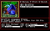 Might and Magic II: Gates to Another World DOS Outdoor battle against a griffin