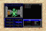 Might and Magic: Book One - Secret of the Inner Sanctum Sharp X68000 Fighting a Gremlin and a bunch of Kobolds