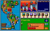 Gold of the Americas: The Conquest of the New World Amiga Preparing a raid on Florida.