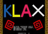 Klax Sharp X68000 Title screen