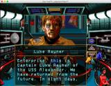 Star Trek: Judgment Rites (Limited CD-ROM Collector's Edition) Macintosh Incoming video call from Captain Luke Rayner of USS Alexander