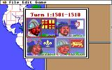Gold of the Americas: The Conquest of the New World Apple IIgs Starting a new game as Spain.