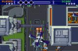 Vertical shoot-'em-up stage. The ship can be rotated 180 degrees
