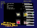 2D 3D Puzzle Flowers No1 Windows The title, high score and menu screen