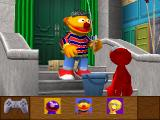 Elmo's Letter Adventure PlayStation Elmo talks with Ernie.