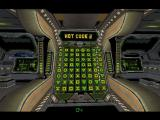 3D Code Cracker Windows Practice mode - shareware version.<br>This machine records the number of hot codes found. To the right and left are vertical columns of green lights, these are countdown timers