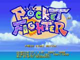 Pocket Fighter PlayStation Title screen.