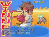 Pocket Fighter PlayStation Ryu wins.